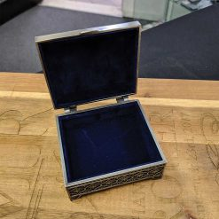 Small Pewter Rectangle Jewellery Box Internal