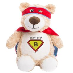Superhero Bear Embroidered Teddy