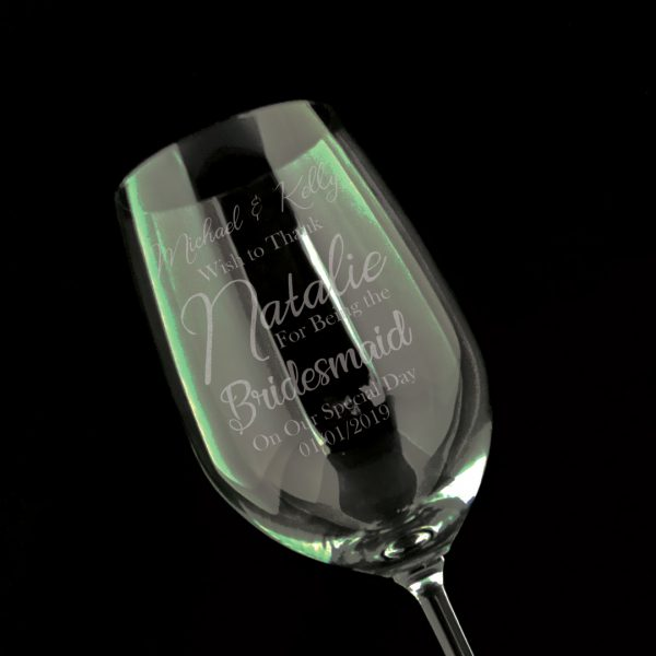 Personalised Wedding Red Wine Glass