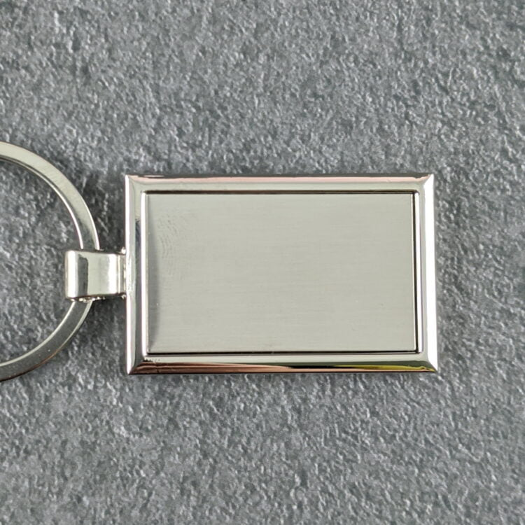 Engravable Stainless Steel Key Chain with Velvet Pouch 1