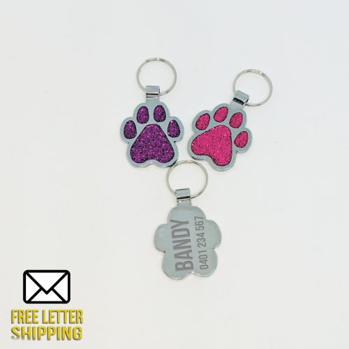 Glitter Paw Deluxe Laser Engraved Pet Tag