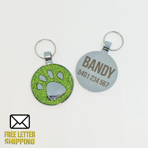 Green Paw Deluxe Pet Tag