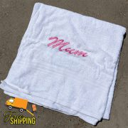 Bath sheet with Personalised embroidery