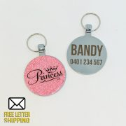 Princess Pink Pet Tag