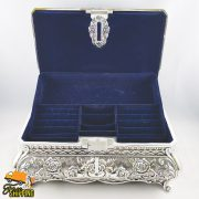 Extra Large Kate Silver Plated Jewellery Box
