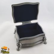 Rectangle Pewter Jewellery Box with Lion Feet