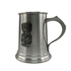 Small Bear Pewter Tankard