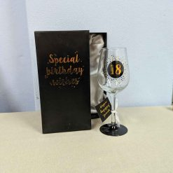 18th Dotted Wine Glass