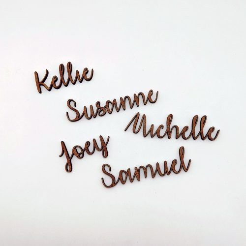 Name Place Cut outs