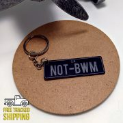 Black and Silver PlateIt Key Chain