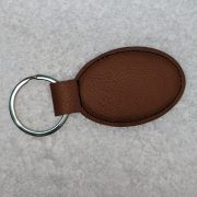 Rawhide Oval Leather Key Chain