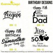 Birthday Designs Page 3