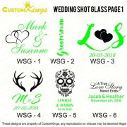 Wedding Shot Glass Designs
