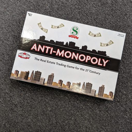 ANTI MONOPOLY Real Estate Board Game 2005 Edition