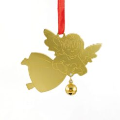 Gold Angel with Bell Christmas Ornament