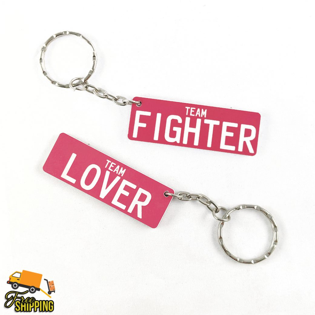 Double Sided Pink PlateIt Keyring
