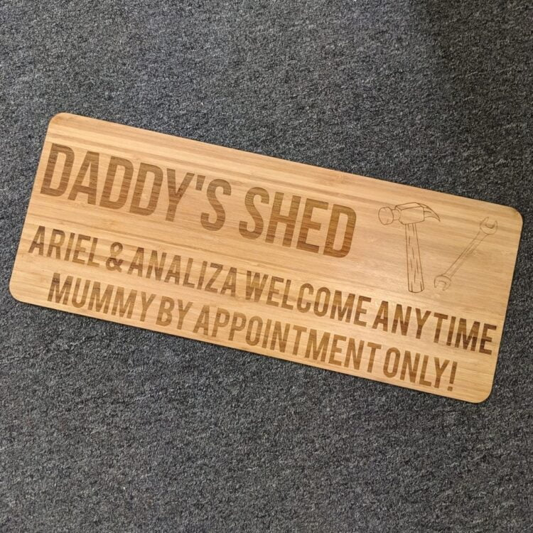 Personalised Shed Sign 1