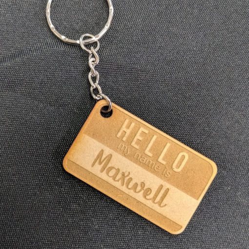 My name is key ring
