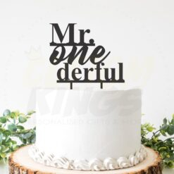 Mr One-derful Cake Topper
