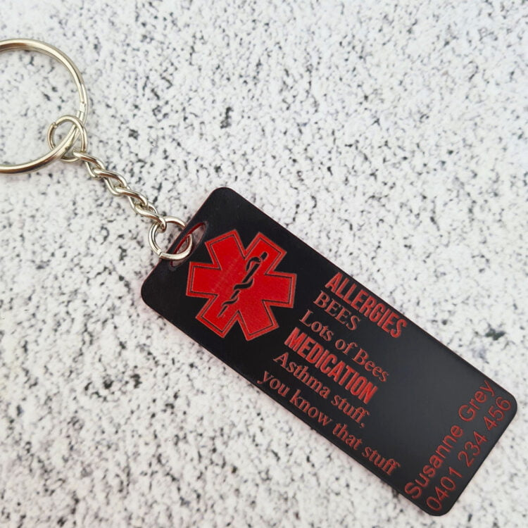 Medical Alert Keychain 1