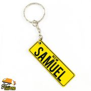 PlateIt© Yellow and Black Licence Plate Key Chain