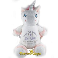 Unicorn Embroidered Teddy