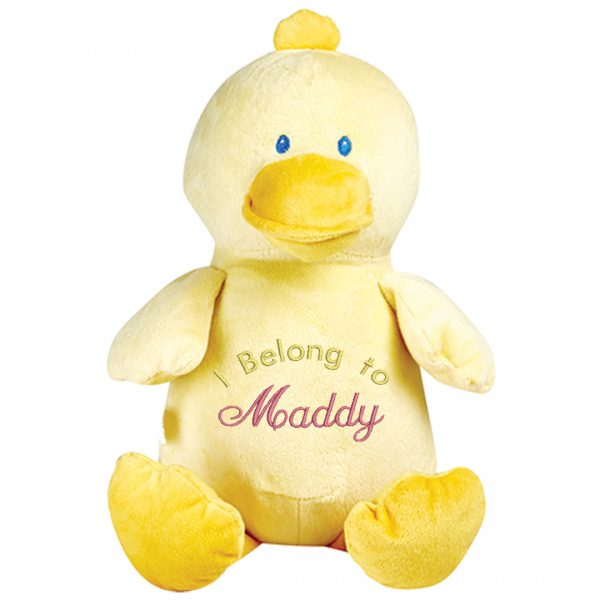 Embroidered Duck Cubbie Huggable Friend