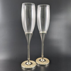 Filled Crystal Base Toasting Glasses