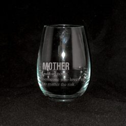 Mother's Day Stemless Glass