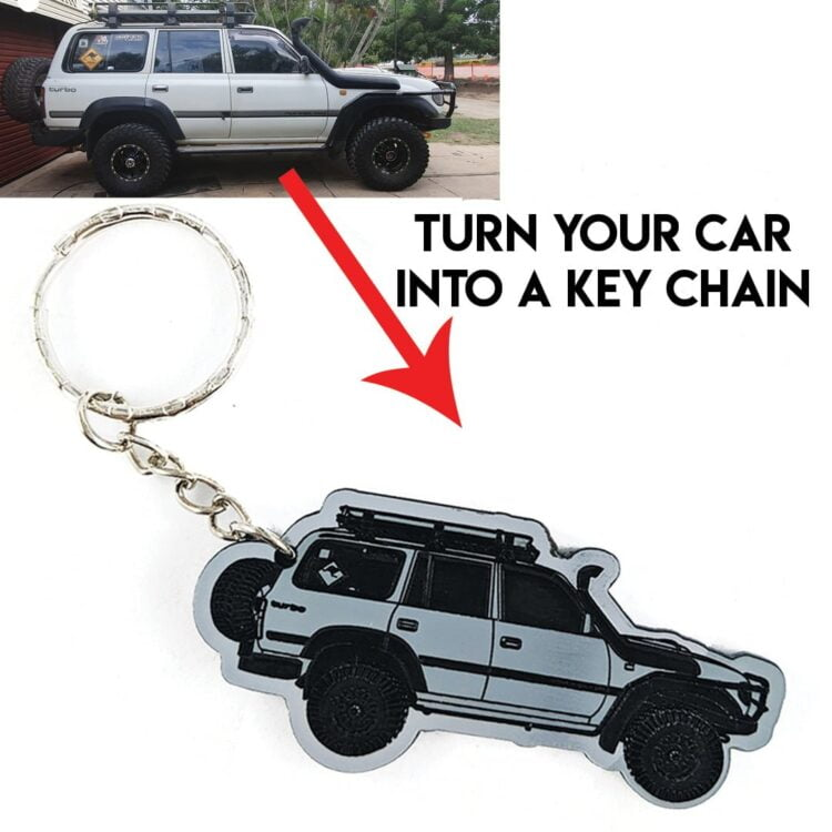 Personalised Car Keyring - Personalised from your Photo 1