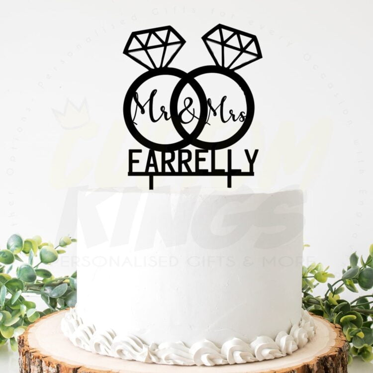 Double Rings Cake Topper