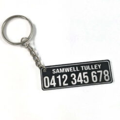 Personalised Contact Details Key Chain