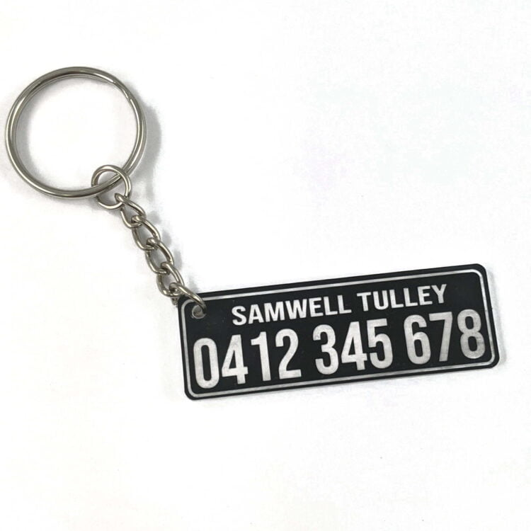 Personalised Details Keychain