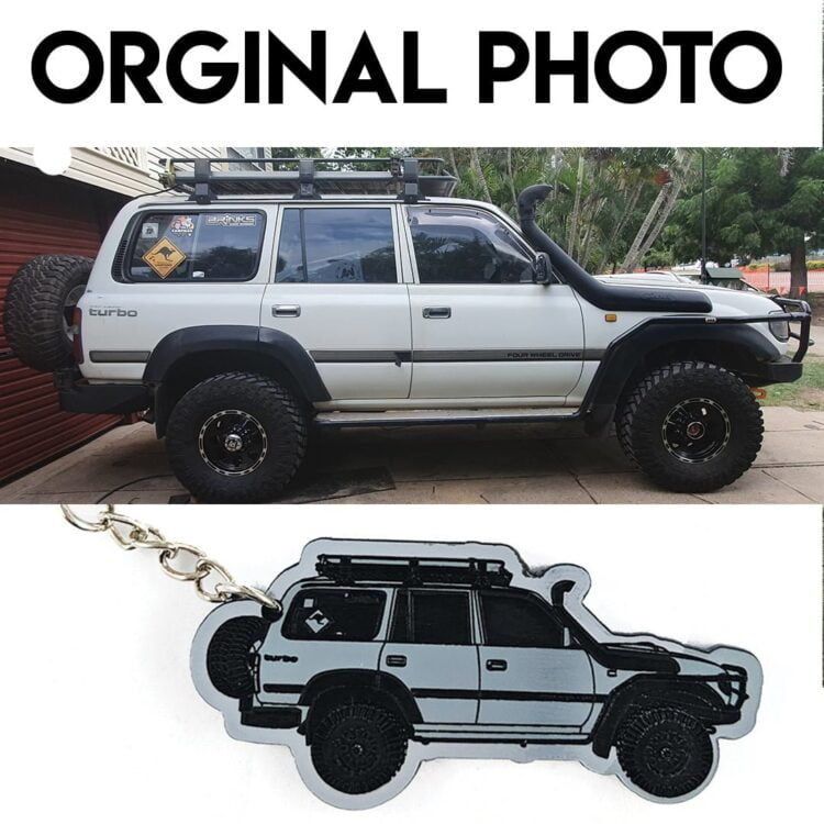 Personalised Car Keyring - Personalised from your Photo 3