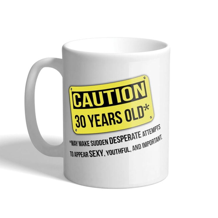 Caution-Birthday-Mug