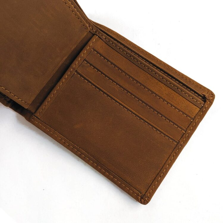 Engraved Coffee Genuine Leather Wallet 2