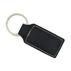 Black-Leatherette-Keychain-Black