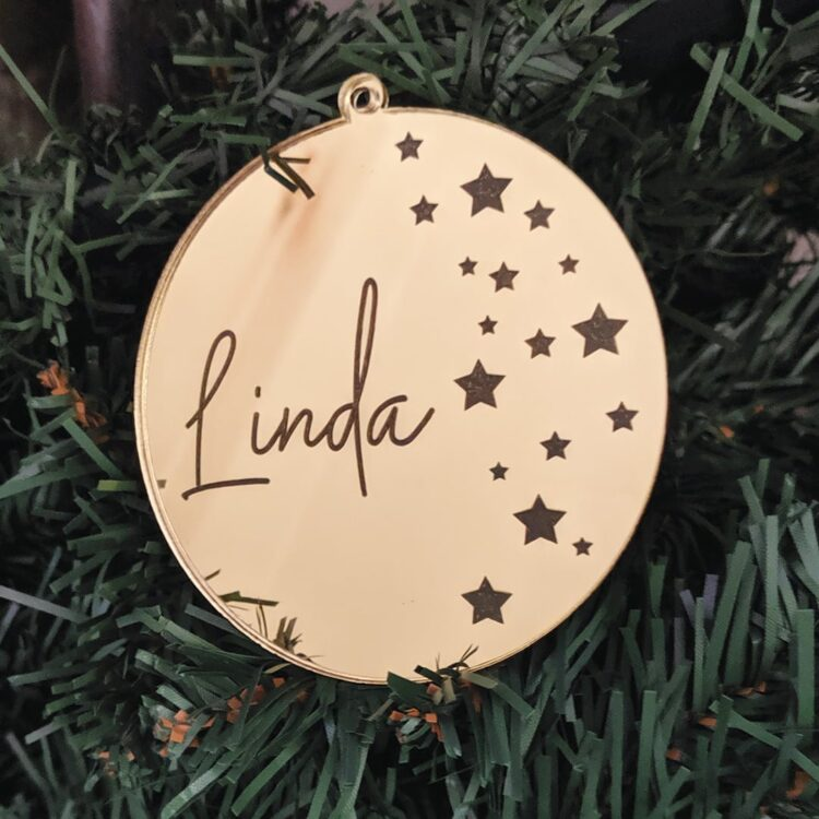 Gold-Star-Christmas-Ornament-Round-in-Tree