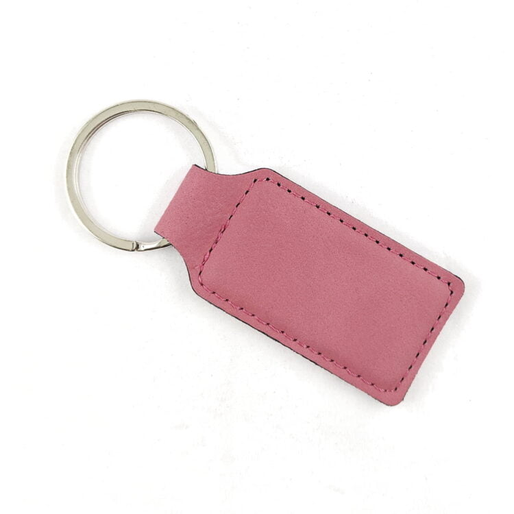 Pink-Leatherette-Keychain-Blank