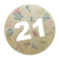 SignIt Wall Decor for 21st Birthday - Signed