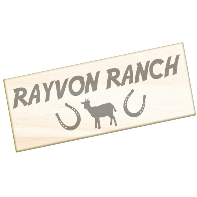 Goat Ranch Engraved Sign