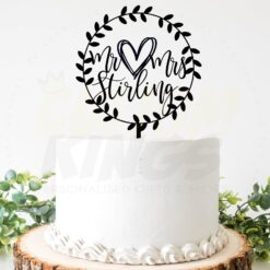 Hoop Wedding Cake Topper