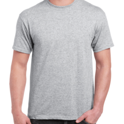 Ice Grey Adult Personalised T-Shirt - Front and Back Print