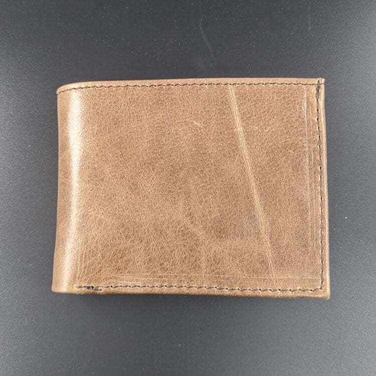 Personalised Genuine Leather Brown Wallet - Low Quality 2