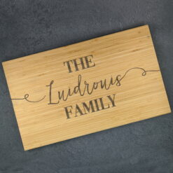 Family Personalised Chopping Board