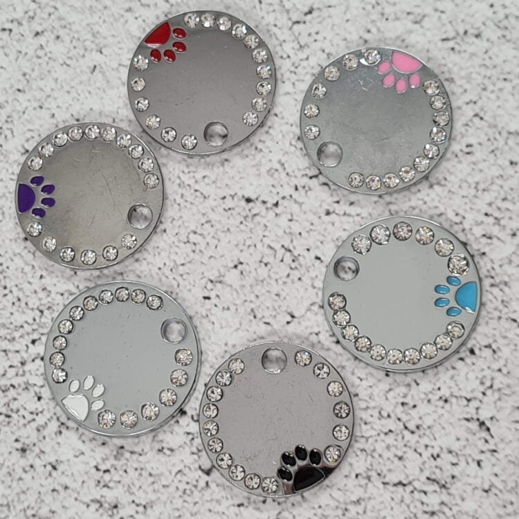 Round Paw Personalised Pet Tag 1