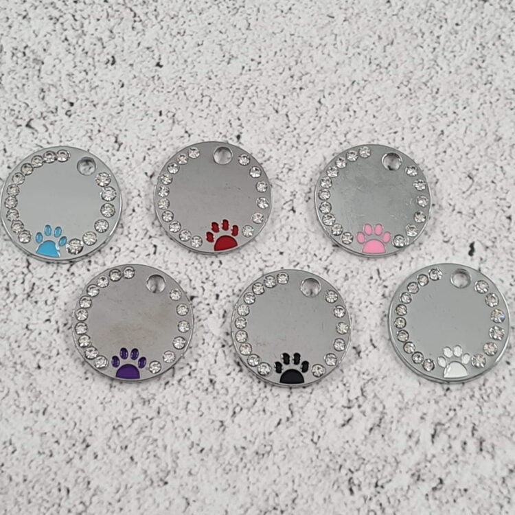 Round Paw Personalised Pet Tag 2