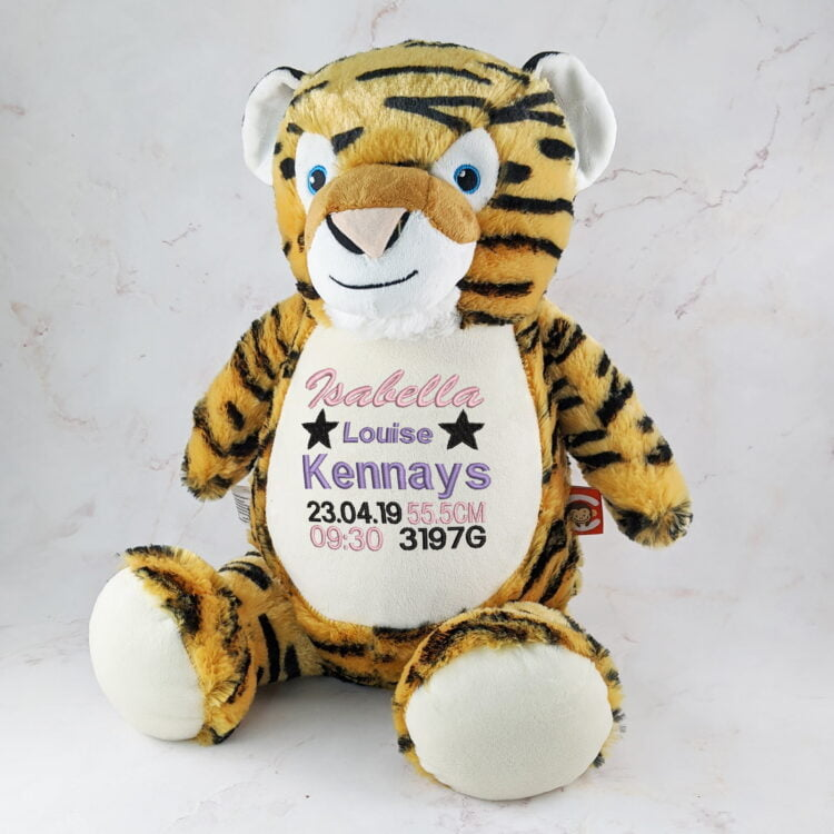 Tiger Embroidered Teddy - Cubbie Brand 1