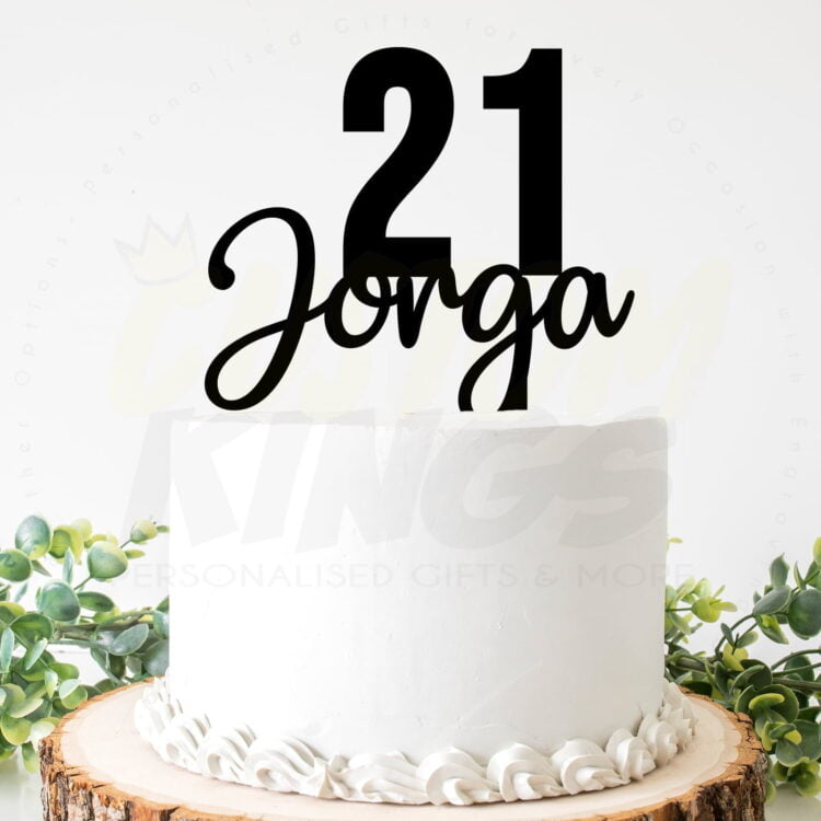 Birthday Age and Name Cake Topper