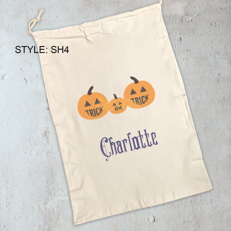 Personalised Halloween Cotton Sack 1